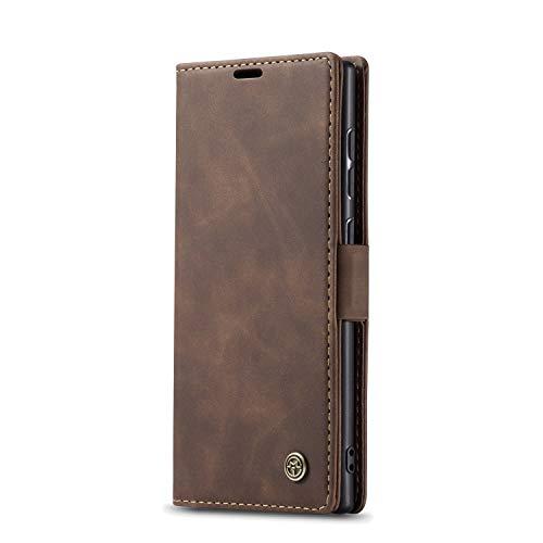 JMstore hülle kompatibel mit Samsung Galaxy Note10 Lite/M60s/A81, Leder Flip Schutzhülle Brieftasche Handyhülle mit Kreditkarten Standfunktion (Kaffee)