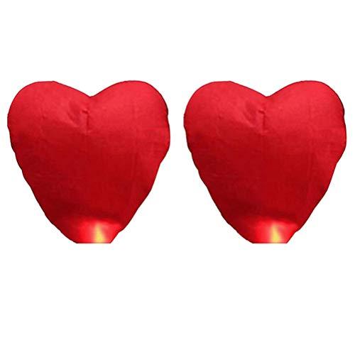 Osaladi - 2 farolillos de papel con forma de corazón para bodas, festivales, fiestas