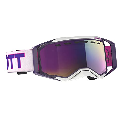 Scott Prospect MX Goggle - Gafas de sol para bicicleta de montaña, color blanco, morado y rosa