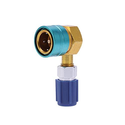 ZHANGAIGUO CCCZY R1234YF Adaptador de Conector de acoplador Manual Ajuste para Coche C.A Frigorífico de Carga Aire Acondicionado Aire Acondicionado Accesorios de flúor QC1234 (Color : As Shown)