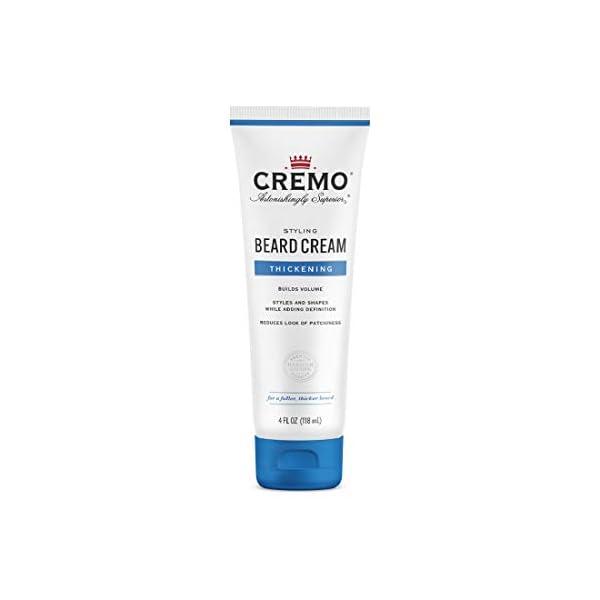 Cremo Styling Beard Cream, Thickening, 4 Fl Oz 1