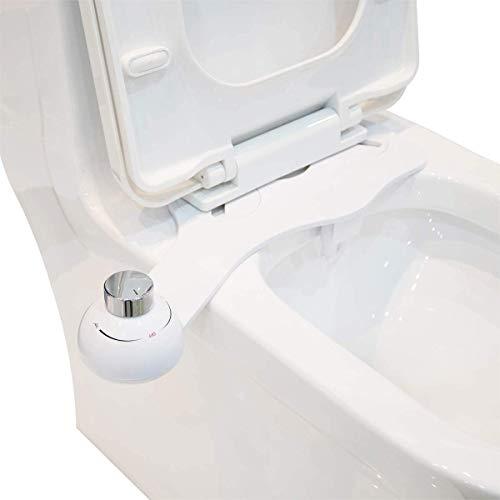 Toilet Attachment,PowerDoF EB5401 Self Cleaning Nozzle Fresh Water Non-Electric Mechanical Bidet Toilet Seat Attachment