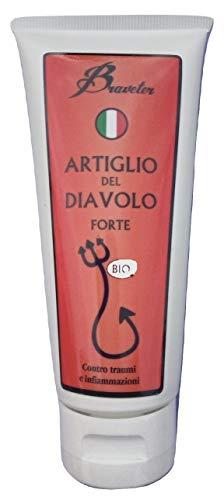 Braveter Artiglio del Diavolo Pomata Forte 100 % Naturale Italiana Bio Crema Efficace Dolori Muscolari Sportivi Antinfiammatorio Gel Massaggi Sport Unguento Biologica