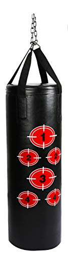BalanceFrom Workout MMA 70 Pound Heavy Boxing Punching Bag with Chains