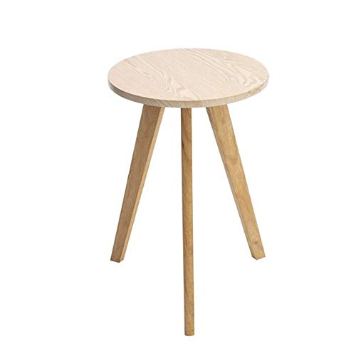 JCNFA BIJZETTAFEL Ronde Bijzettafel, Little Ronde Tafel, 23.62cm Hoog, Multifunctionele Salontafel, 2 Kleuren (Color : Wood, Size : 15.74 * 15.74 * 23.62in)