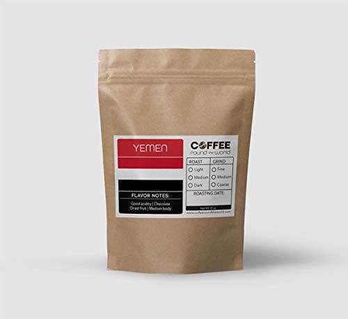 Fresh Roasted Coffee, Yemen Coffee, Ground Coffee, Organic Coffee, 12 Ounce Bag (Medium Roast, Medium Grind)