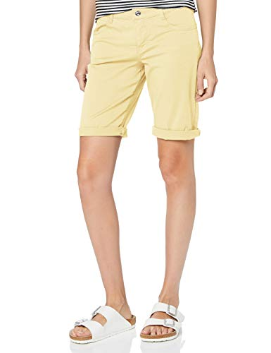 MAC Jeans Damen Shorty Summer clean Shorts, Gelb (Pastell Yellow PPT 504r), W42(Herstellergröße: 42/07)