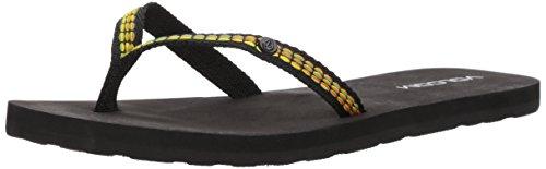 Volcom Trek Jacquard Strap Fashion Sandal, Chanclas Mujer, Negro, 37 EU