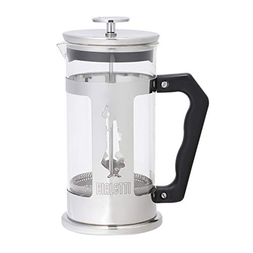 Bialetti 0003130/Nw Coffee Press Omino, Caffettiera Pressofiltro 8 Tazze, Acciaio Inossidabile, Multicolore, 1 L, 1 Unità