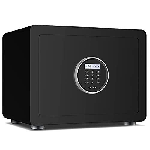 Cassaforte di sicurezza, Blocco elettronico con password cassaforte, cassaforte a muro, doppia funzione di allarme, grande spazio, tutto acciaio Nero   40cm×30cm×30cm