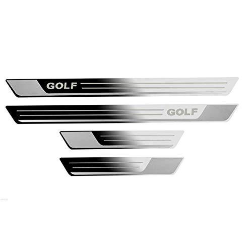 LSYBB 4 STÜCKE ZubehöR Edelstahl Einstiegsleiste Auto Styling FüR VW Golf 7 MK7 2013 2014 2015