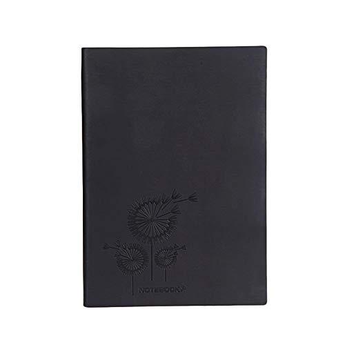 Cosanter Notizheft A5 Schulblock Taschenbuch mit Weichem Oberfläche Notepad 80 g Dowling-Papier 200 Seiten 21.2*14.8cm Schwarz