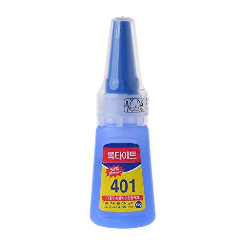 Adhesivo rápido instantáneo 401 Rapid Fix, botella de 20 g más fuerte súper pegamento multiusos