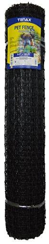 Tenax 2A140081 PET Fence PRO, 5' x 100', Black
