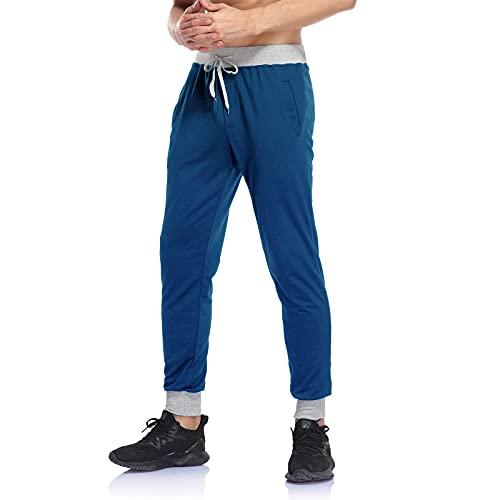 LOIAZD Pantaloni da Jogging da Uomo Primaverile e Autunnale con Coulisse Pantaloni Elasticizzati Pantaloni della Tuta da Allenamento Pants