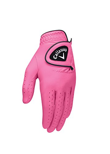 Callaway Damen Opti-Colour Handschuhe, Rose, M