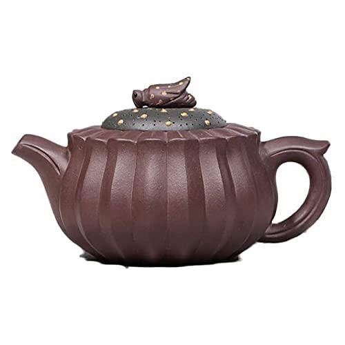 LYYJIAJU Tetera Portatil Zisha Hecho a Mano Kung Fu Hogar 280ml CC Tetera Capacidad de Gran Capacidad Puede usarse para Beber té y Hacer Amigos