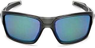 644a4a1ebed33 Oakley TURBINE OO9263L 926309 Cinza Lente Polarizada Espelhada Verde Jade  Iridium Tam 65