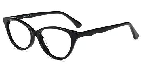 Firmoo Occhiali Luce Blu Bambini Occhiali per Computer/PC/Gaming, Occhiali da Vista Occhio di Gatto Anti-affaticamento Degli Occhi Ragazzi Ragazze(Nero)