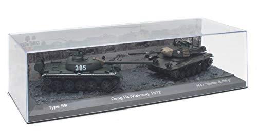OPO 10 - Set di 2 Carri Armati Militari 1/72: Tipo 59 vs M41 Walker Bulldog (T904)