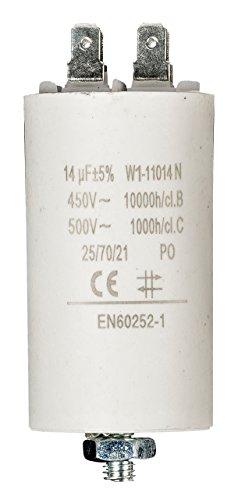 Fixapart W1-11014N condensatore Bianco Fixed capacitor Cilindrico