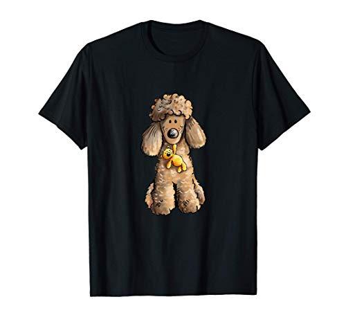 Süßer Pudel Mit Spielzeug I Pudelhund Herrchen I Hunde Fan T-Shirt