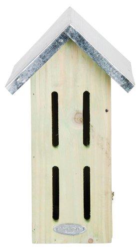 Esschert Design Schmetterlingshaus, Nistkasten aus Holz mit Blechdach, ca. 19 cm x 15 cm x 33 cm