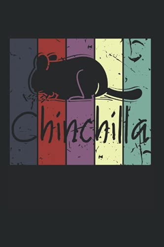Chinchilla: Notebook Diary Calendar Notes, 6x9 inches, 120 blank pages, Vintage Chinchilla Retro Chinchillas