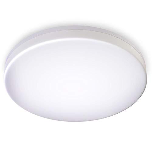 B.K.Licht LED Deckenleuchte spritzwassergeschützt IP54 24W LED Platine mit 2800lm 4.000K neutralweisse Lichtfarbe 33cm