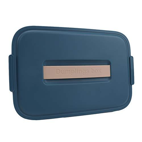 Generic LinLimaoyi Eine Schicht tragbarer Knödelbox, schnell Gefrorene Haushaltsknödelbox für das Schulbüro,Dunkelblau