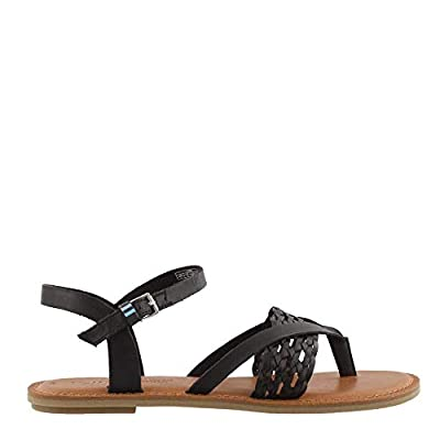 TOMS Lexie Black Leather/Synthetic Braid 5