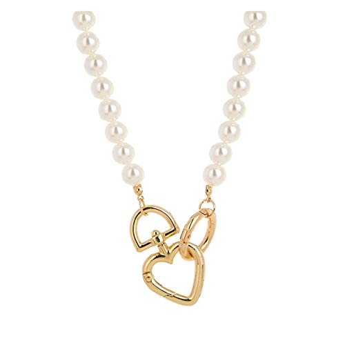 Collar delicado para mujer Collar de perlas delicado para las mujeres, gargantilla flecha barra colgante de capas, moda simples niñas joyas regalos para la esposa mamá cumpleaños aniversario día