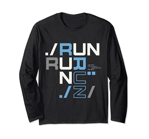 I Love Running, Run Tee shirts, Run Short Sleeve Graphic Manga Larga