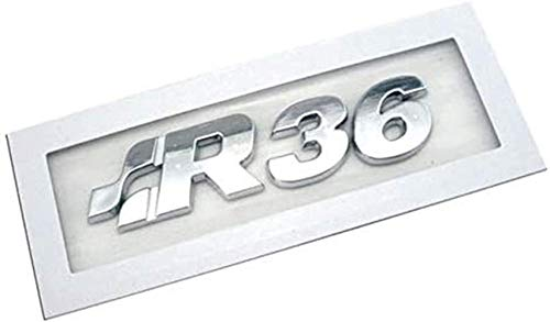 AMYD Car Front Grille 3D Emblems, Front Grille Cooler Logo For Volkswagen Teramont Bora Jetta Passat Bumper Grille Symbols Decal Badge, R36 Sticker