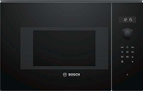 Bosch BFL524MB0 Serie 6 Einbau-Mikrowelle / 900 W / 20 L / Drehteller 25,5 cm / Türanschlag Links / Schwarz / AutoPilot 7 / Elektronische Türöffnung