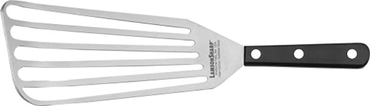 """Lamson Jumbo Chef's Slotted Turner 4"""" x 9"""", Stainless Steel with Riveted POM handle, Right-Hand"""