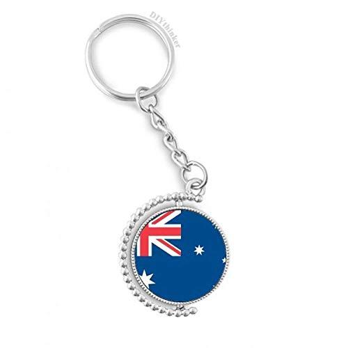 DIYthinker Australien NationalFlaggege Ozeanien Land Drehbare Schlüsselanhänger Ringe 1.2 Zoll x 3.5 Zoll Mehrfarbig