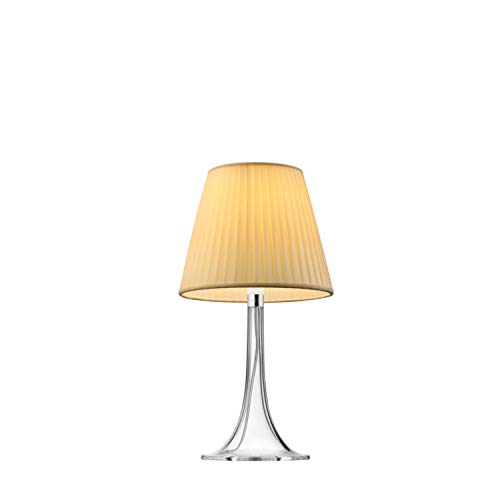 Lámpara de sobremesa de luz difusa, colección Miss K, 100W, tejido, 23,6 x 23,6 x 43,2 centímetros, color amarillo (referencia: F6255007)