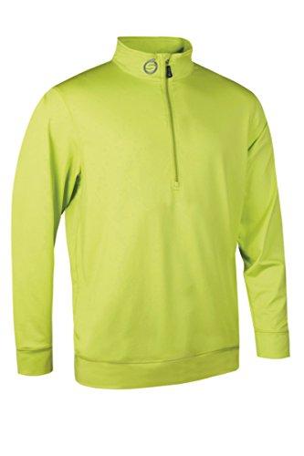 Sunderland, maglia intermedia elasticizzata da golf con cerniera e dettaglio, Uomo, Lime, XL