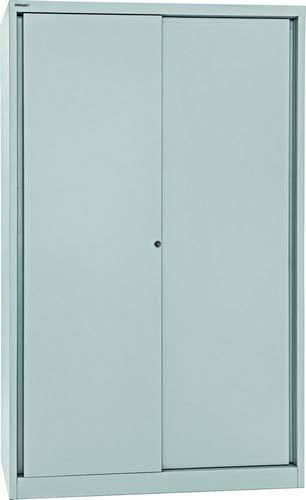 BISLEY Schiebetürenschrank ECO, 4 Fachböden, 5 OH, Metall, 645 Lichtgrau, 43 x 120 x 198 cm