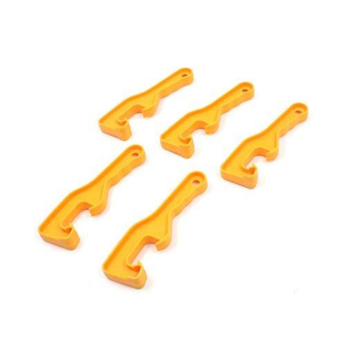 FarBoat 5Pcs Universal Lid Can Opener Orange Plastic for Bucket Lid Paint Cover (Orange)