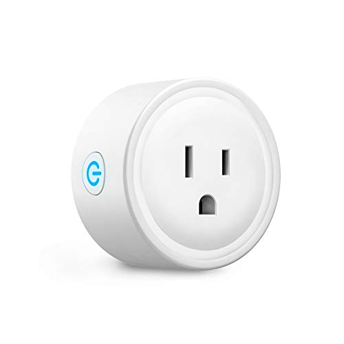 Smart Plug No Hub Required - Aoycocr Mini Outlet with Schedule/Timer Function, Remote Control Your Appliances(10 Amp) from Anywhere, work with Alexa, Google Home & IFTTT - 2.4GHz Smart Life Plug