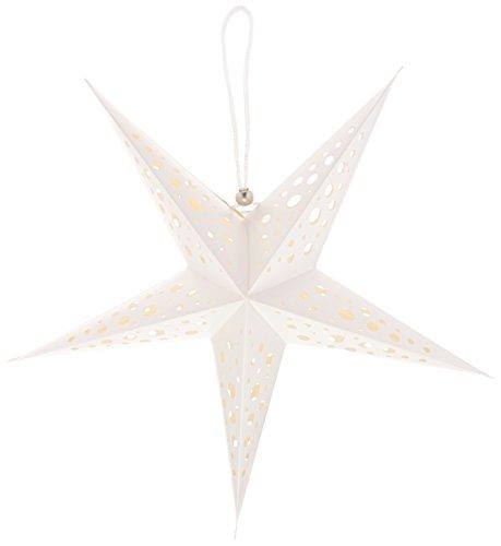American Crafts Heidi Swapp 5 Star Lanterne en Papier 43 cm Blanc, Acrylique, Multicolore