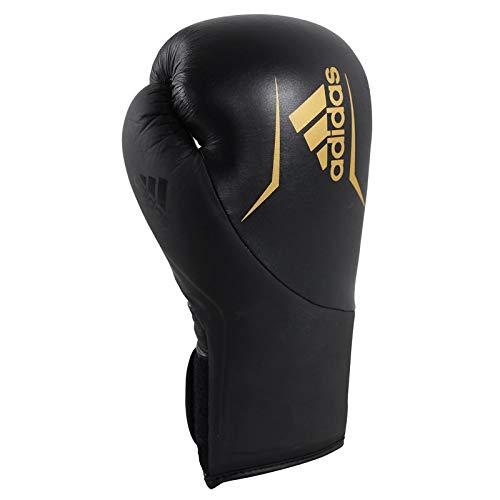 adidas Erwachsene Speed 200 Boxhandschuhe, Schwarz/Gold, 12 oz
