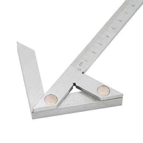 100 x 70 mm Zentrierwinkel-Lineal, Rundstabmarkierungs-Zentriersucher, Mittelmessgerät, Kohlenstoffstahl
