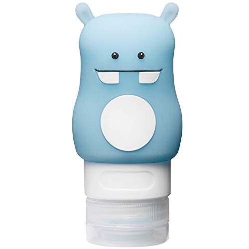 BEARCOLO 1 stks Lekvrije Siliconen Reisfles, Draagbare Knijpbare Cosmetica Shampoo Container Giraf Paard en Hippo Patroon Navulbare Reiscontainer