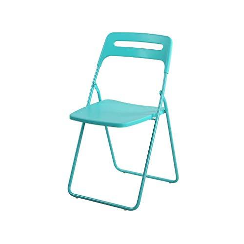 YANGFH Mehrfarbiger optionaler Kunststoff-Klappstuhl aus pulverbeschichtetem Metallrahmen Stuhl (Color : Tiffany Blue)