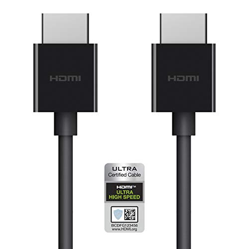 Belkin Ultra HD High Speed HDMI 2.1 Cable, Optimal Viewing for Apple TV and Apple TV 4K, Dolby Vision HDR, 2 M/6.ft – Black