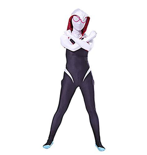 Gwen Halloween Carnaval Kostuum voor Meisjes-Deluxe Jumpsuit Gemaakt van Lycra met Hood 180