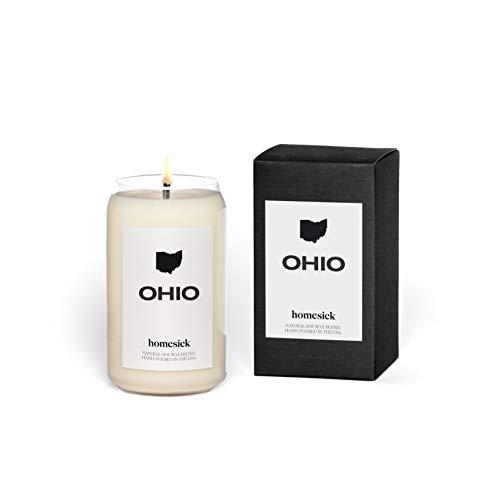 Homesick Scented Candle, Ohio - Scents of Honeysuckle, Orange, 13.75 oz